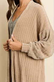 Dress Forum  Chenille Long Cardigan - Back cropped