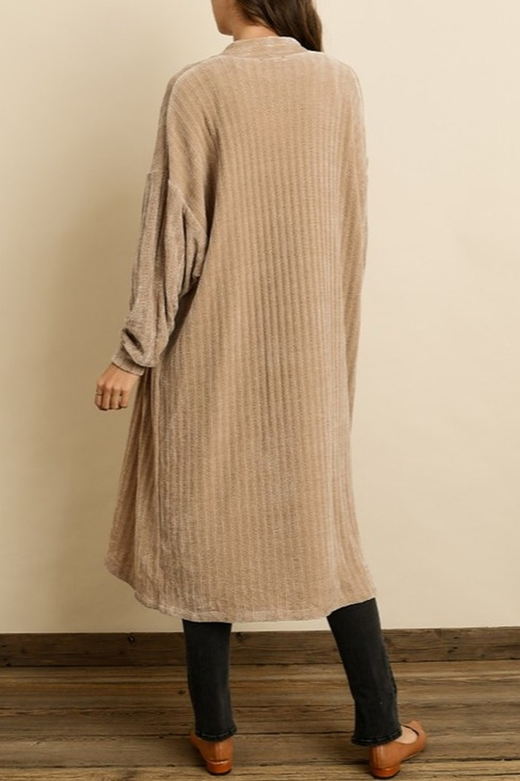 Dress Forum  Chenille Long Cardigan - Side Cropped Image
