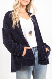 LoveRiche Chenille Open Cardigan - Product Mini Image