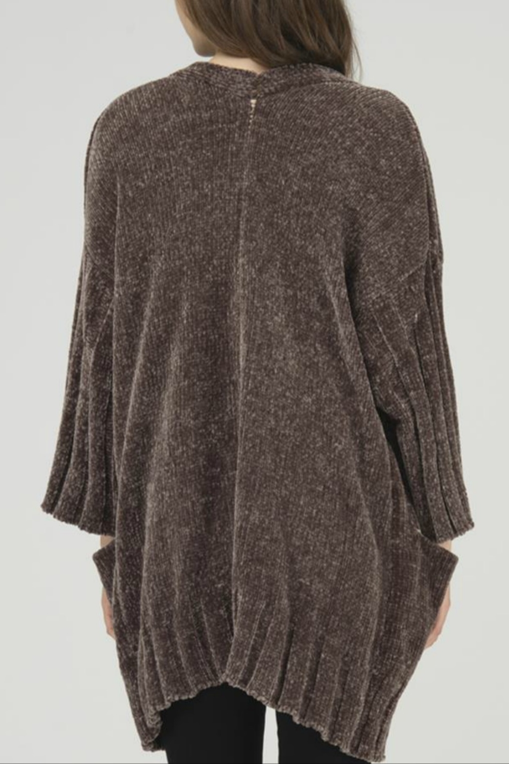 FATE by LFD Chenille Open Cardigan - Front Full Image