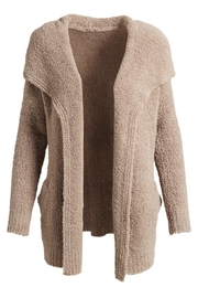 Evergreen Enterprises Chenille Open Cardigan - Front cropped
