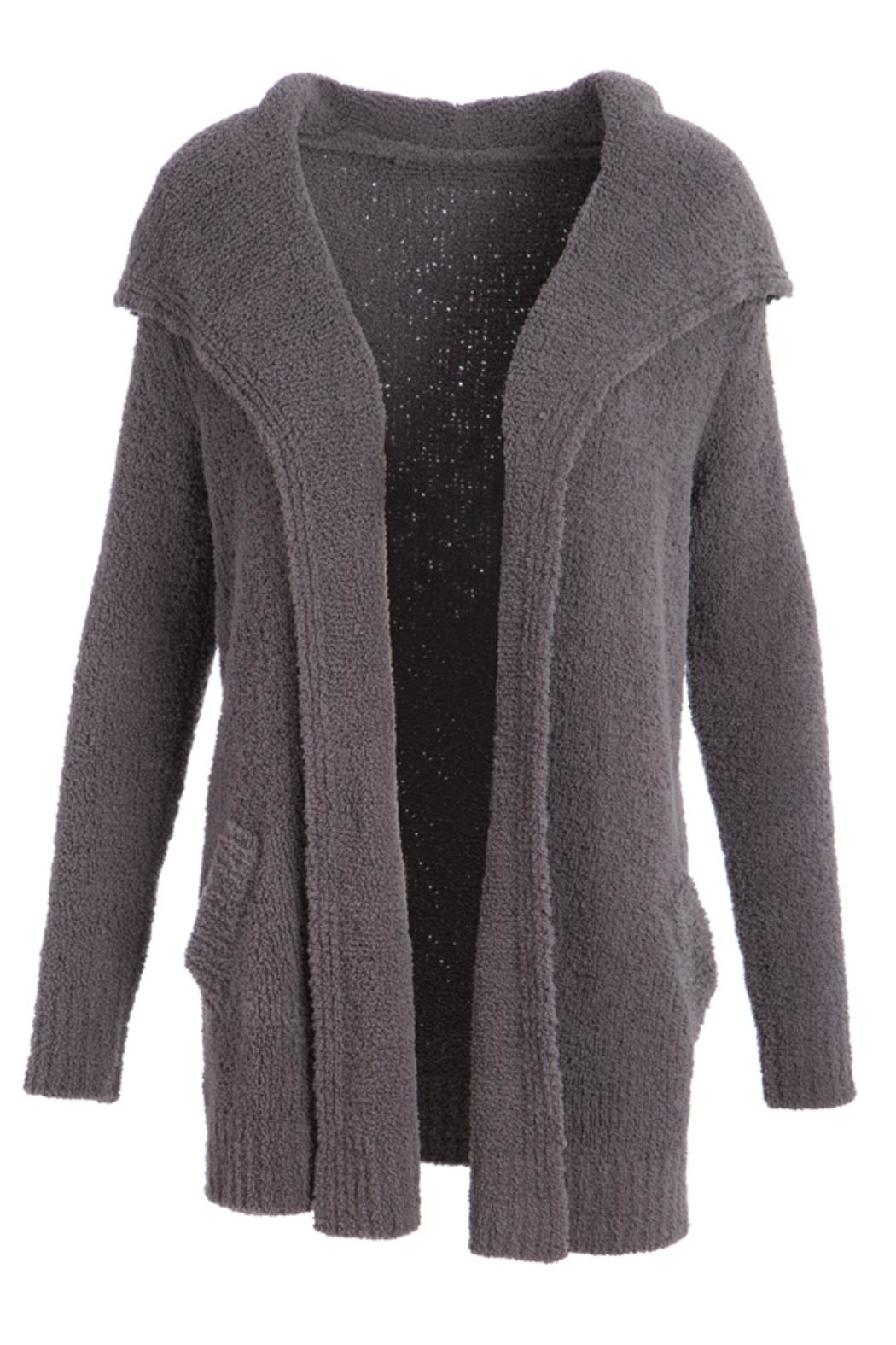Evergreen Enterprises Chenille Open Cardigan - Front Cropped Image