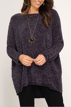 She + Sky Chenille Pullover Top - Product List Image