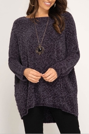 She + Sky Chenille Pullover Top - Product Mini Image