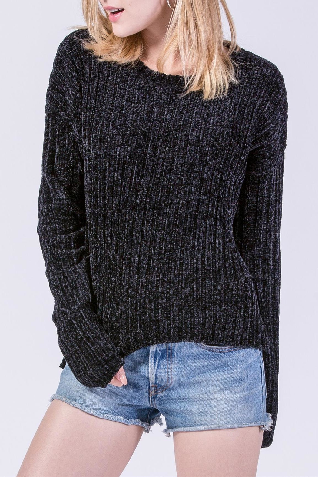 Double Zero Chenille Ribbed Sweater - Main Image