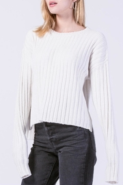 Double Zero Chenille Ribbed Sweater - Front cropped