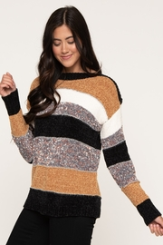 Downeast  Chenille Stripe Sweater - Product Mini Image