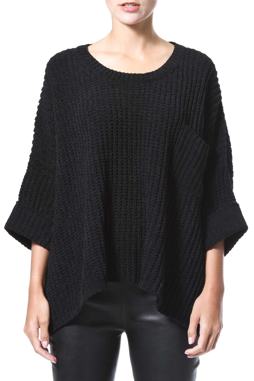 Madonna & Co Chenille Sweater - Front Cropped Image