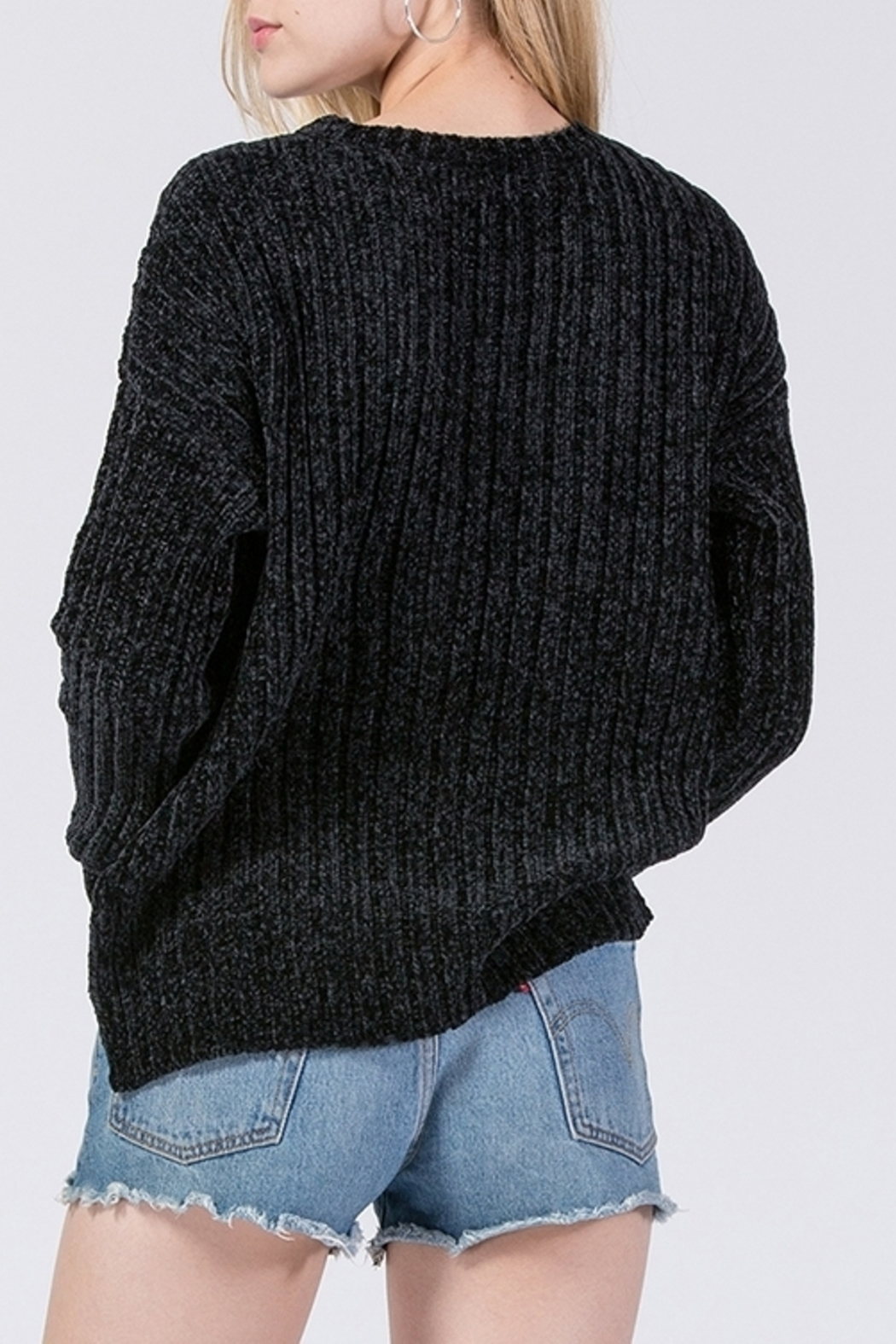 HYFVE Chenille Sweater - Back Cropped Image