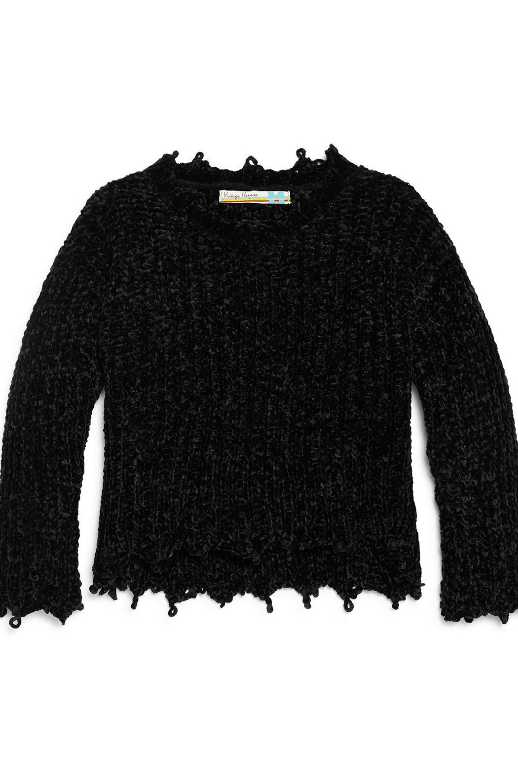 Vintage Havana Chenille Sweater - Front Cropped Image