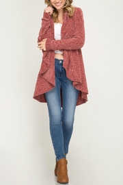 She + Sky Chenille Sweater Cardigan - Product Mini Image