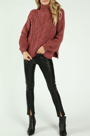 Honey Punch Chenille V-Back Sweater - Product Mini Image