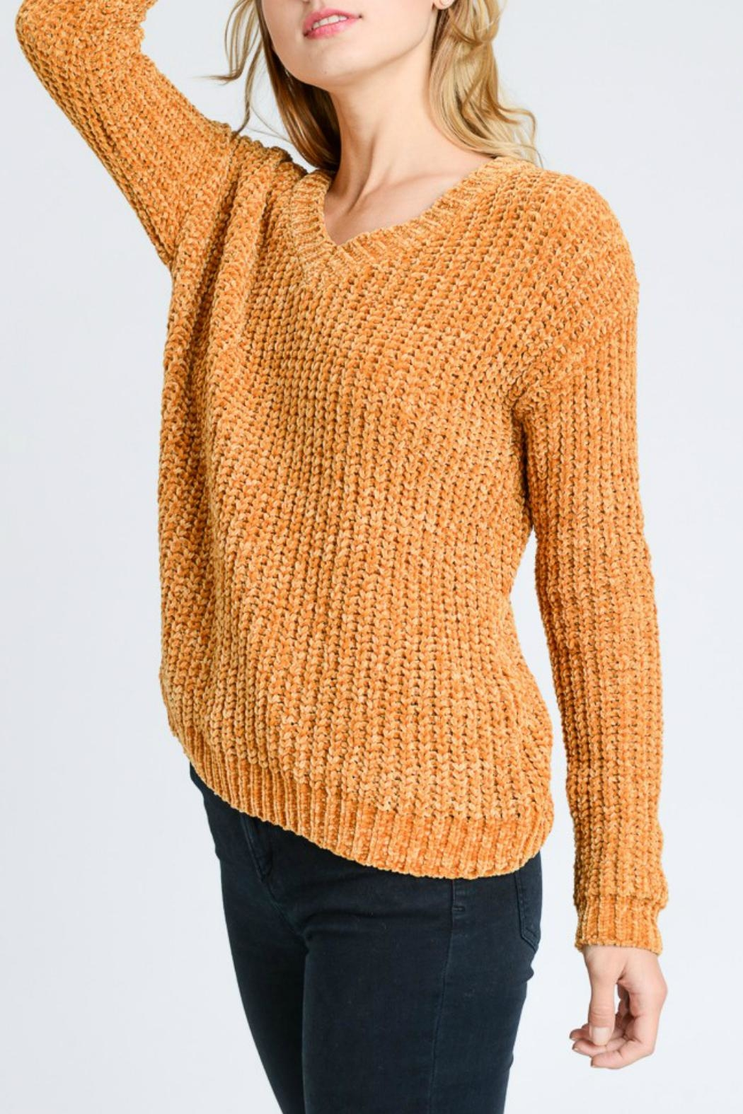Lovetree Chenille V-Neck Sweater - Main Image