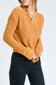 Lovetree Chenille V-Neck Sweater - Back cropped
