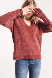 rag poets Chenille V-Neck Sweater - Front full body