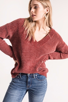 rag poets Chenille V-Neck Sweater - Product List Image