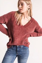 rag poets Chenille V-Neck Sweater - Front cropped