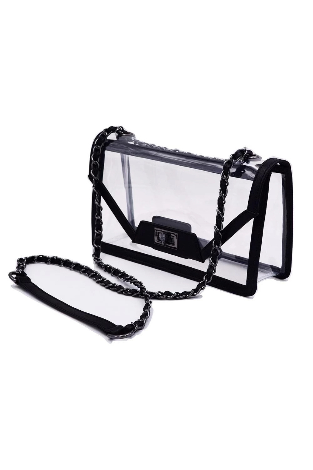 Policy Handbags Cher Clear Envelope Clutch - Side Cropped Image