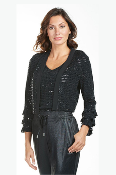 Frank Lyman Cher Sequin Jacket Cover-Up, Black - Alternate List Image