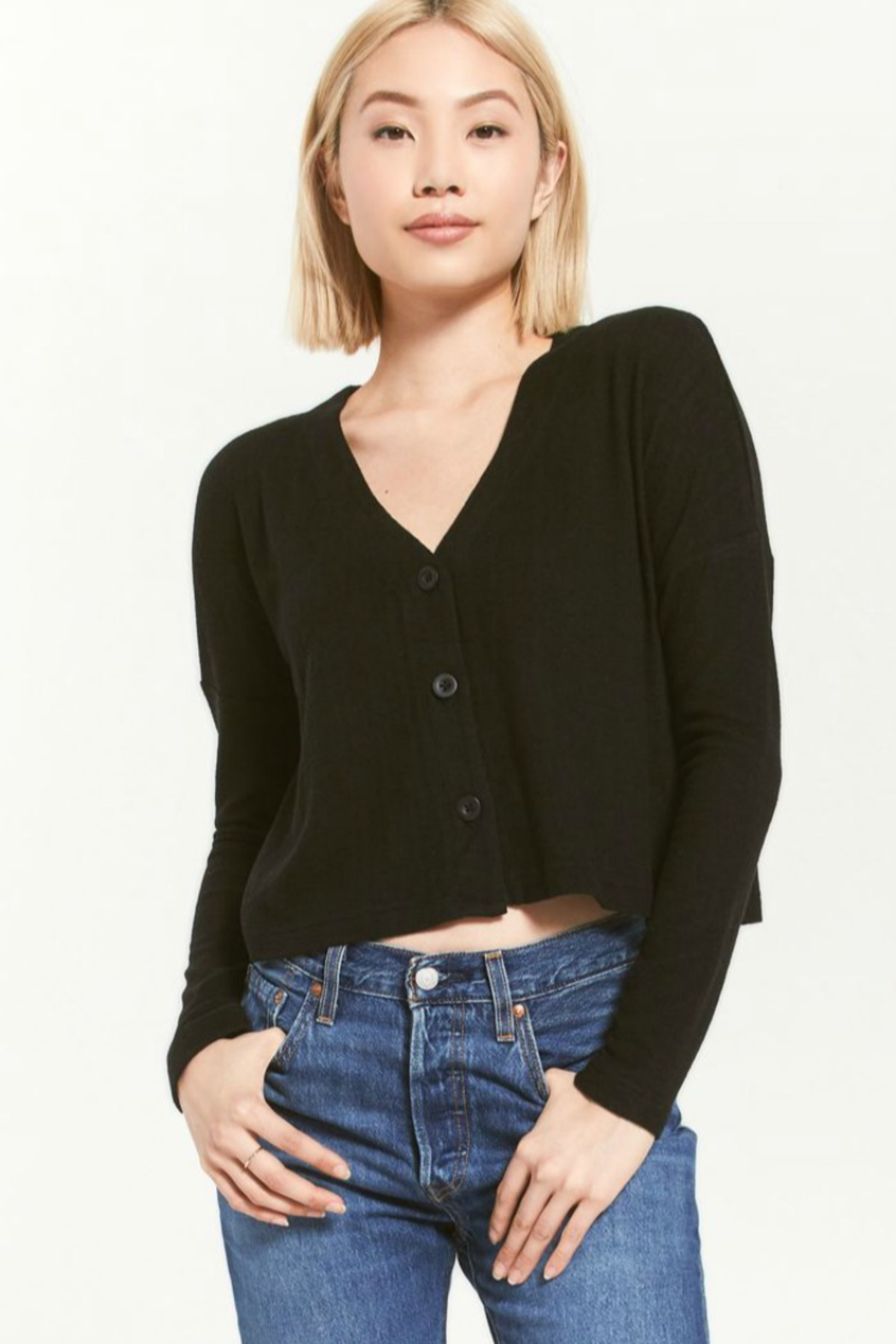 z supply Cher Slub Sweater - Front Cropped Image