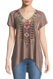 Johnny Was Cherelle Embroidered Velvet-Tunic - Product Mini Image