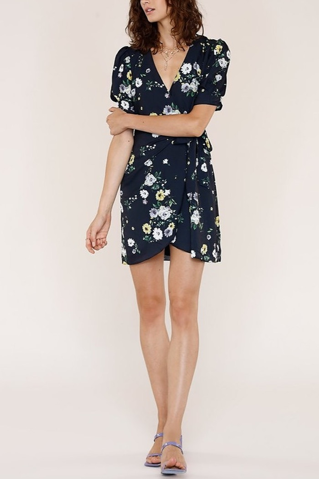 Heartloom Cheri Floral Wrap Dress - Front Cropped Image