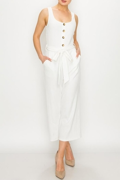 Shoptiques Product: White Button Jumpsuit