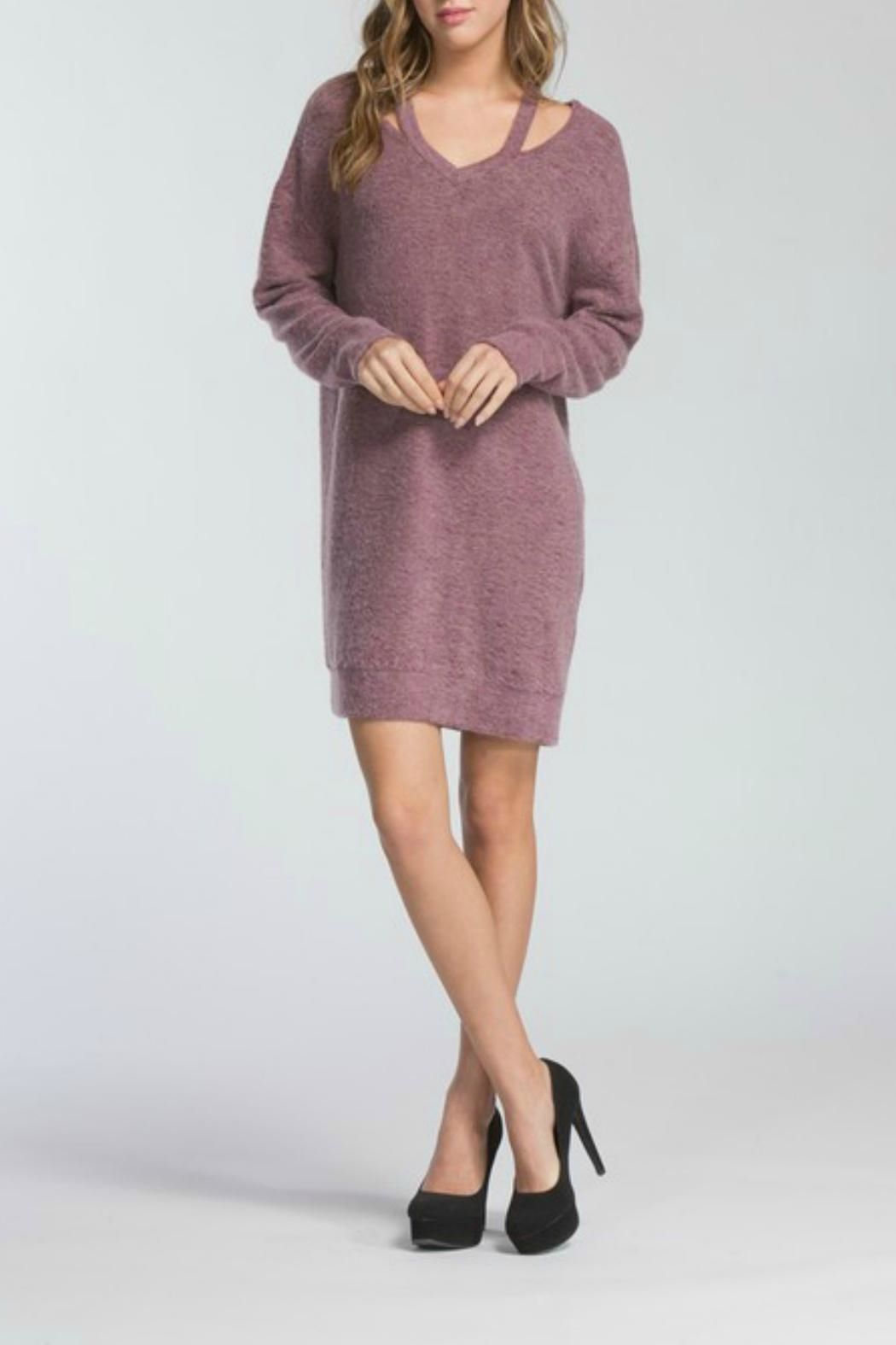 Cherish Adriana Sweater Dress - Side Cropped Image