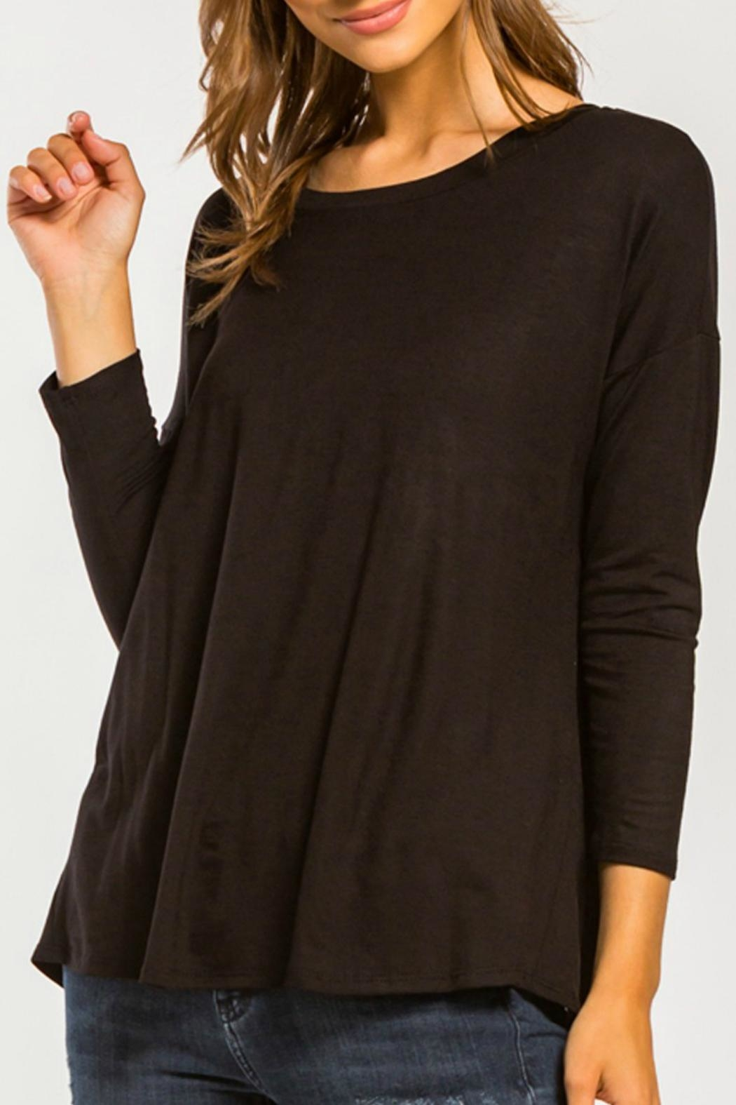 Cherish Back-Twist Long-Sleeve Top - Front Cropped Image