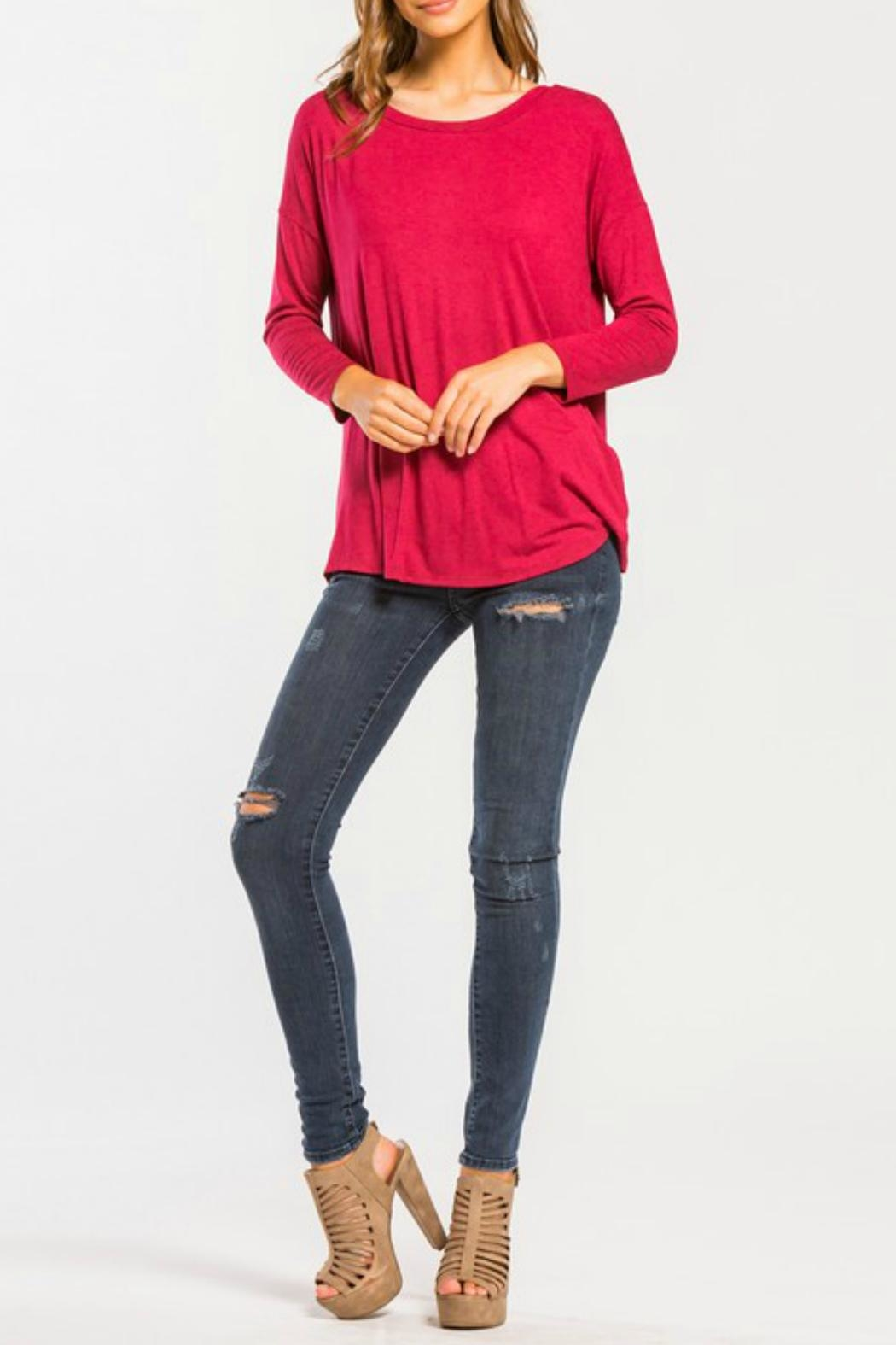 Cherish Back-Twist Long-Sleeve Top - Side Cropped Image