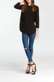 Cherish Backless Sweater Top - Front full body