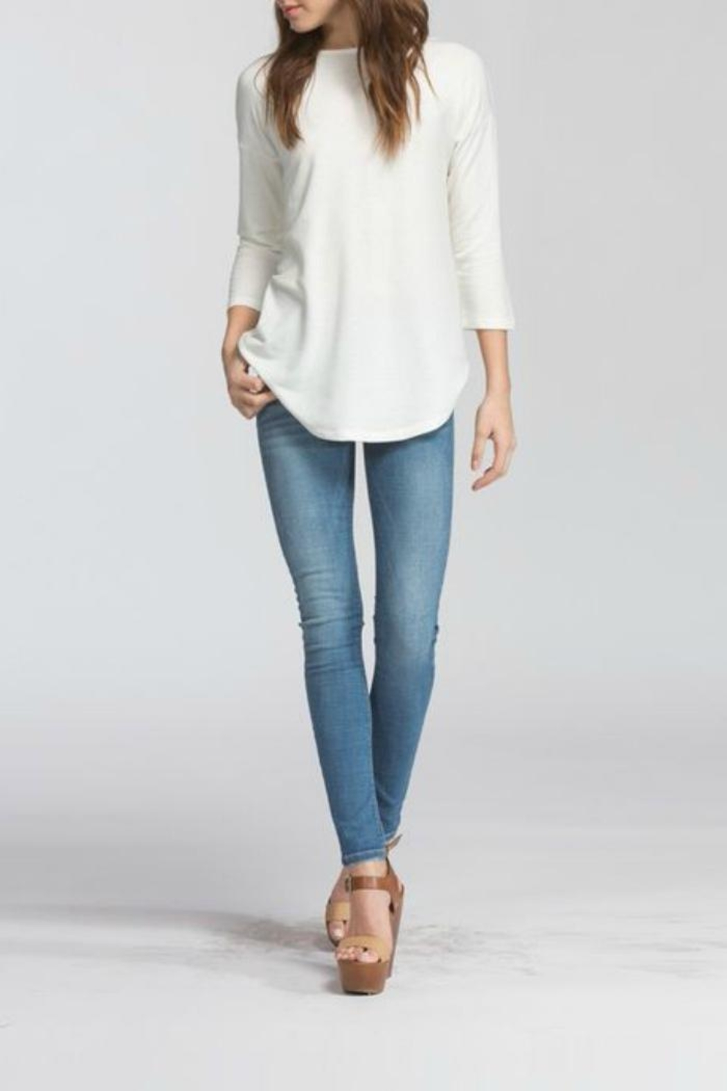 Cherish Backless Sweater Top - Front Full Image