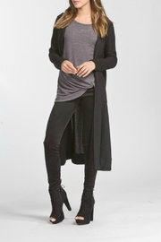 Cherish Black Hoodie Cardigan - Product Mini Image