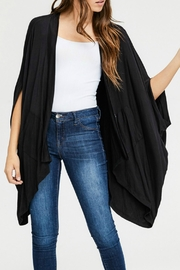 Cherish Black Pocketed Cardigan - Front cropped