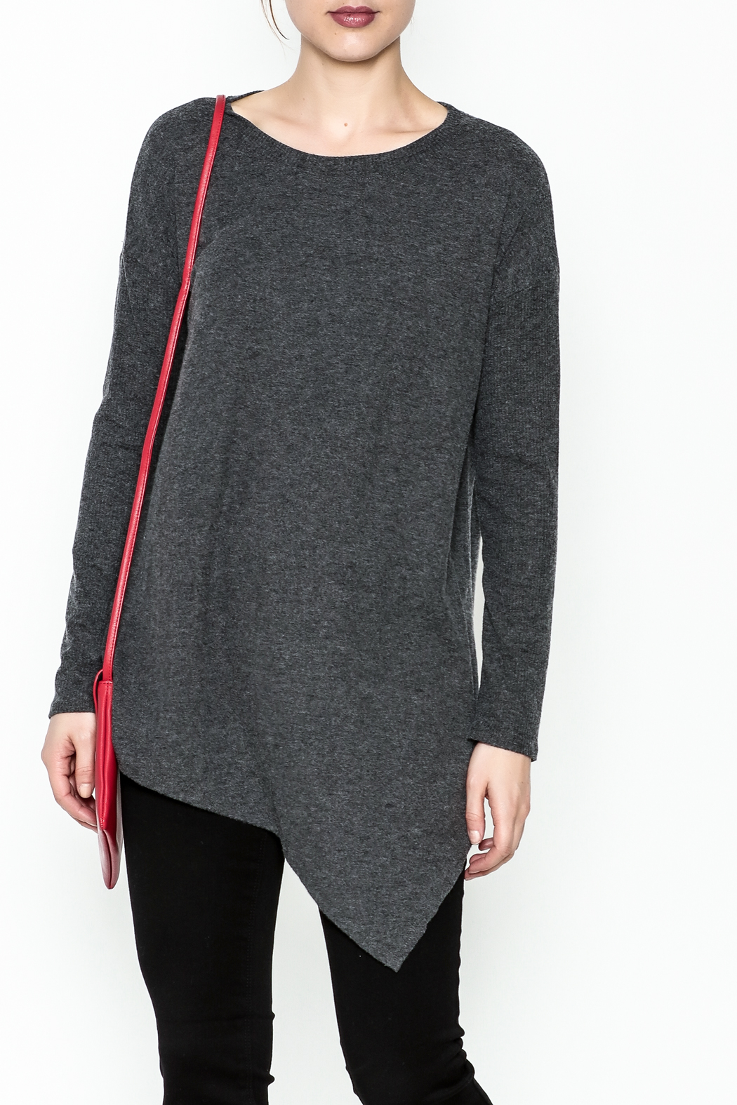 Cherish Brushed Asymmetrical Tunic - Main Image