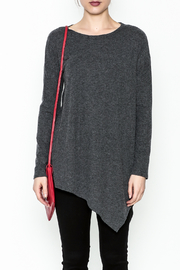 Cherish Brushed Asymmetrical Tunic - Front full body