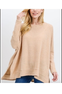 Cherish Brushed Eyelash Knit  Soft Top - Alternate List Image