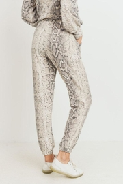 Cherish Brushed Print Joggers - Side cropped