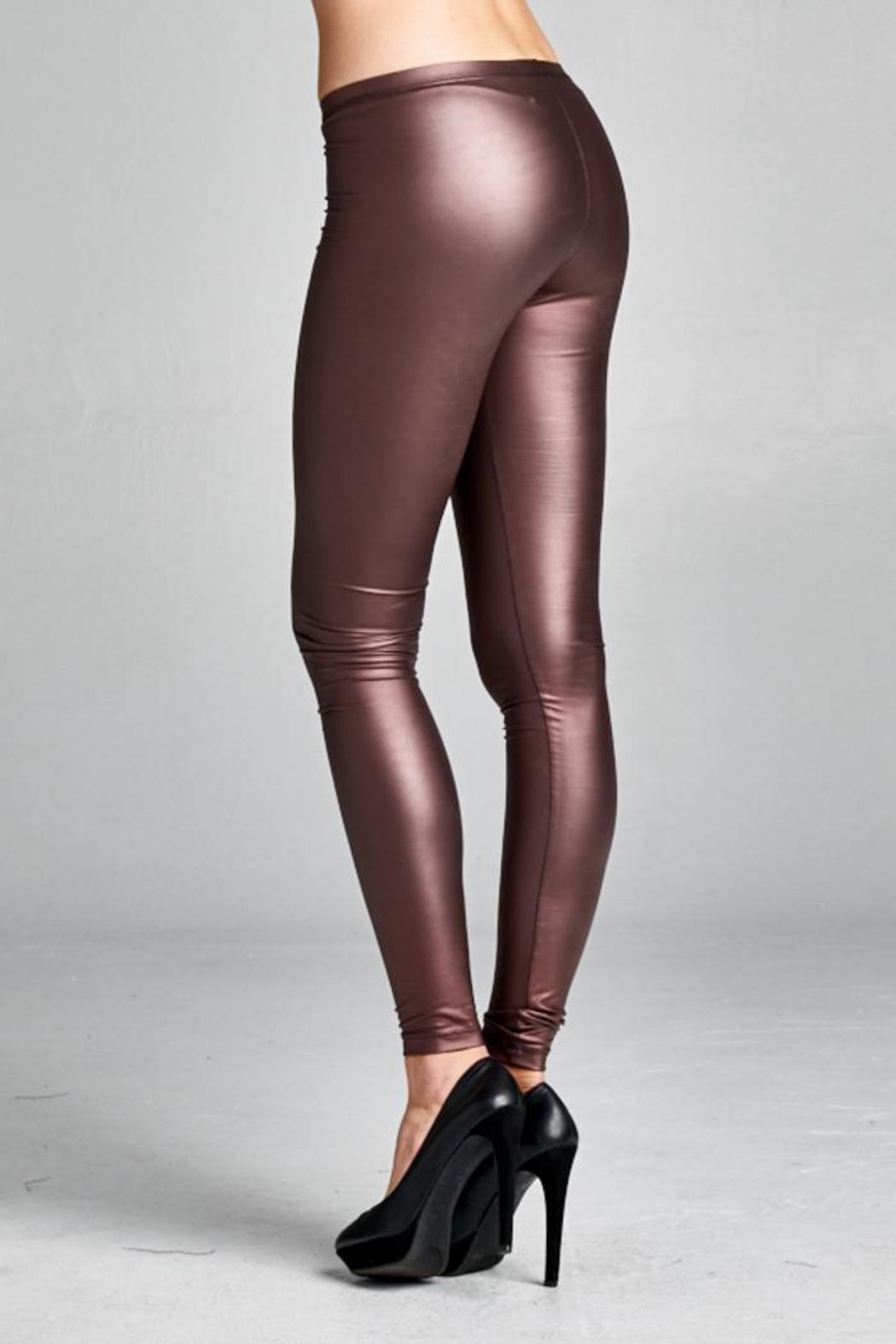 6a2711e8c34e36 Cherish Burgundy Pleather Legging from Louisville by Something Blue ...