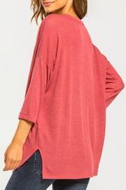 Cherish Button Down Knit Top - Front full body