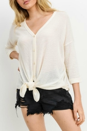 Cherish Button Down Knit Top - Front cropped