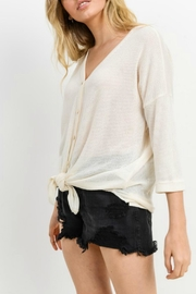 Cherish Button Down Knit Top - Side cropped