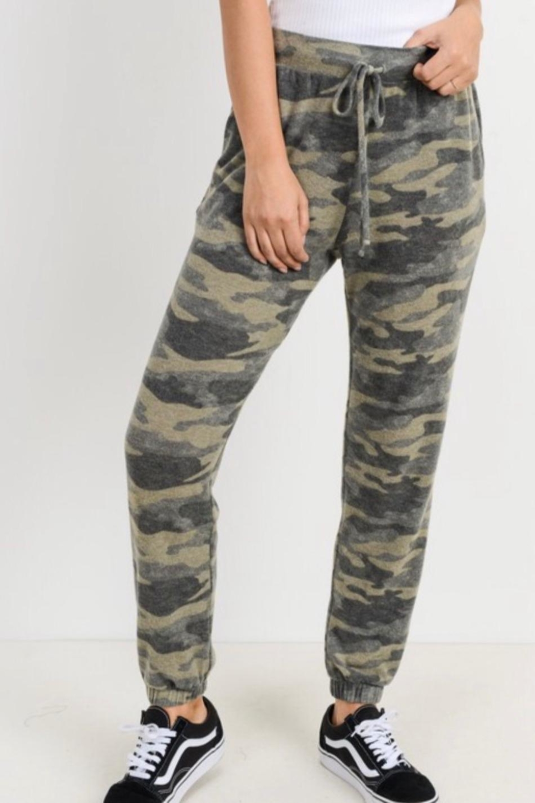 Cherish Camo Jogger Pants - Front Cropped Image