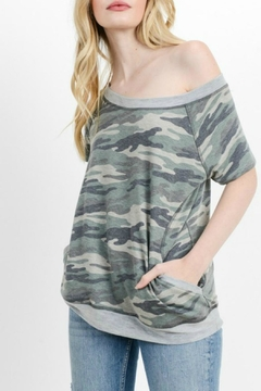 Cherish Camo Pocketed Top - Product List Image