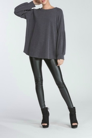 Cherish Charcoal Knit Top - Front full body