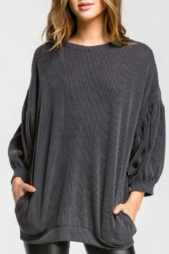 Shoptiques Product: Charcoal Pocketed Top