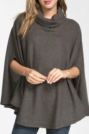 Cherish Charcoal Poncho Top - Product Mini Image