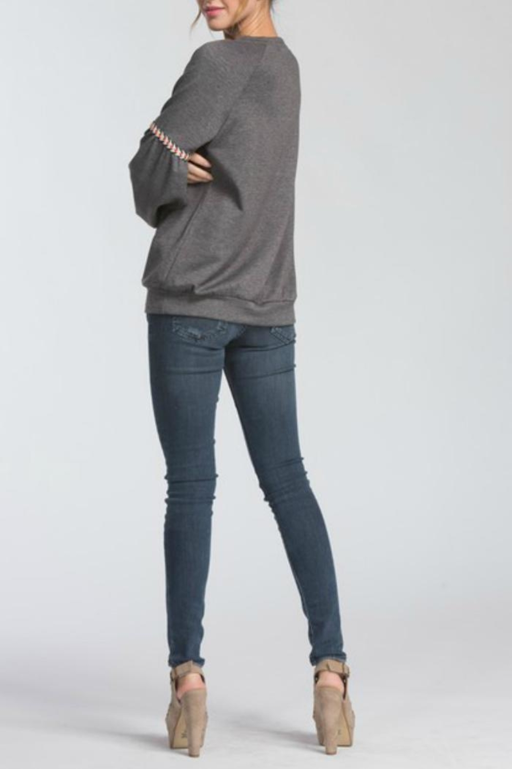 Cherish Charcoal Pullover - Side Cropped Image