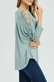Cherish Charmed Lace-Up Top - Product Mini Image