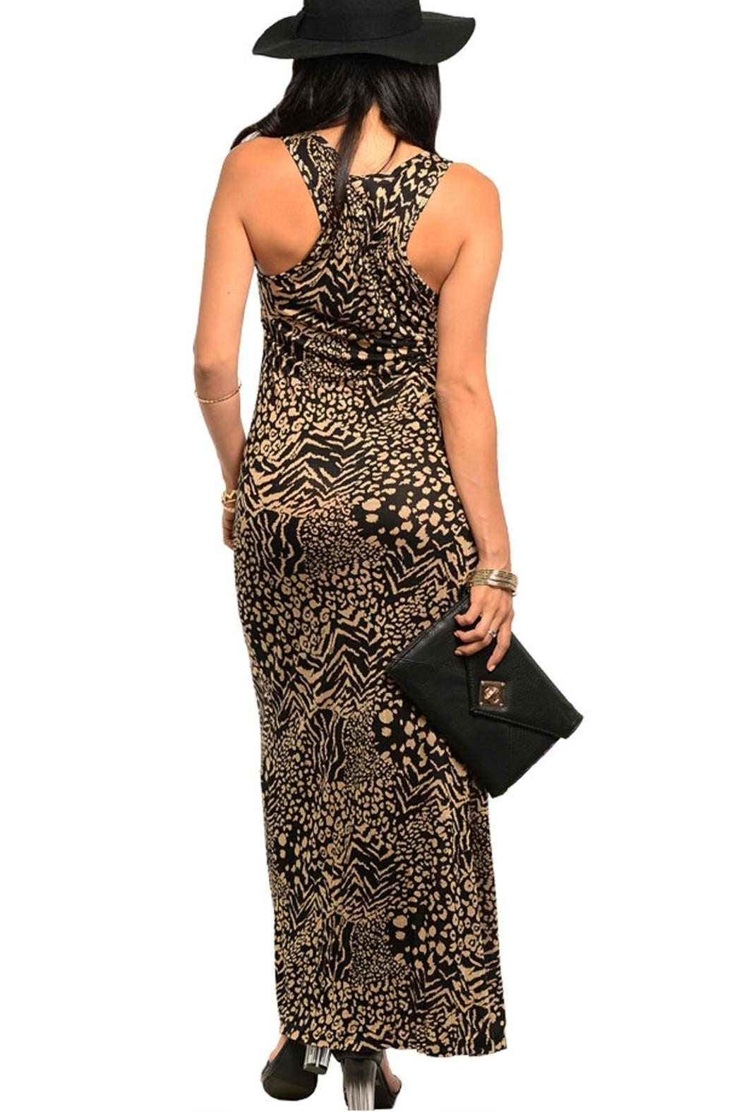 Cherish Cheetah Maxi Dress - Front Full Image